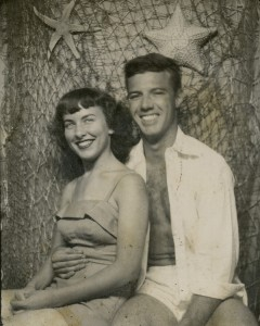 1954 Dad and Mom tropical portrait