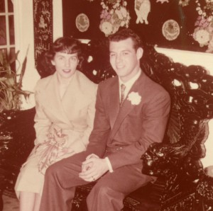1955 Dad and Mom wedding day 2