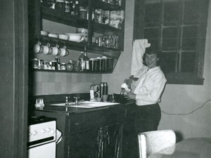 1956 Mom in kitchen