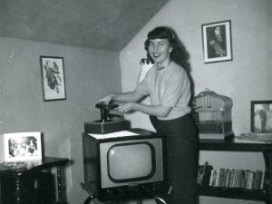 1956 Mom in their living room