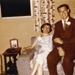 1957 Dad and Mom pregnant