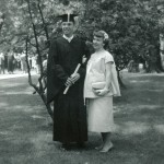 1957 Dad's college graduation, with Mom