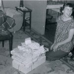 1957 Mom at her baby shower