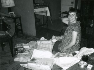 1957 Mom at her baby shower 2