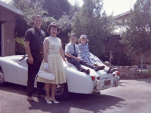 1963 Dad, Mom, Steven and Denise on Easter