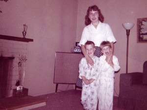 1963 Mom, Steven and Denise