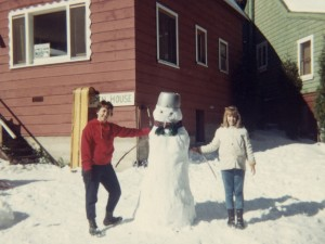 1968 Mom and Den at Big Bear cabin