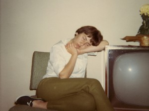 1968 Mom asleep in living room