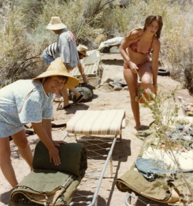 1972 Mom and Den on camping trip