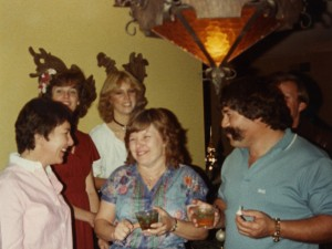 1982 Mom at home with square dancing friends 3