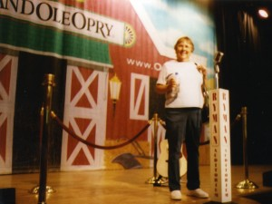 1995 Lora on Stage at Ryman Auditorium